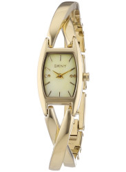 DKNY Women's Essentials Mother Of Pearl Dial Gold Tone Watch NY8680