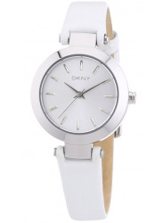 DKNY Women's Stanhope White Dial White Leather Watch NY8834