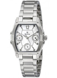Bulova Women's Wintermoor GMT Silver Dial Watch 96P127
