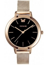 OUI&ME Women's Amourette Black Dial Rose Gold Stainless Steel Watch ME010015