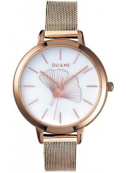 OUI&ME Women's Amourette White Dial Rose Gold Stainless Steel Watch ME010042