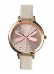 OUI&ME Women's Amourette Rose Gold Dial Beige Leather Watch ME010100