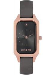 OUI&ME Women's Finette Black Dial Black Leather Watch ME010116