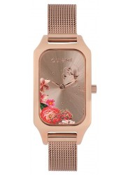 OUI&ME Women's Finette Rose Gold Floral Dial Rose Gold Stainless Steel Watch ME010123