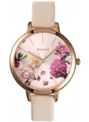 OUI&ME Women's Fleurette Rose Gold Dial Beige Leather Watch ME010076