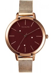 OUI&ME Women's Fleurette Burgundy Dial Rose Gold Stainless Steel Watch ME010128