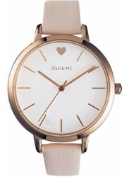 OUI&ME Women's Grande Amourette White Dial Beige Leather Watch ME010024