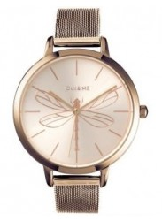 OUI&ME Women's Grande Amourette Rose Gold Dial Rose Gold Stainless Steel Watch ME010035