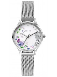 OUI&ME Women's Minette White Floral Dial Mesh Stainless Steel Watch ME010175