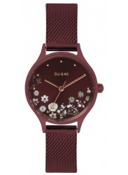 OUI&ME Women's Minette Burgundy Floral Dial Burgundy Mesh Stainless Steel Watch ME010197