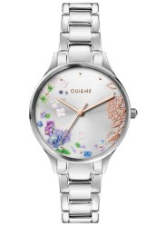 OUI&ME Women's Petite Bichette Silver Floral Dial Stainless Steel Watch ME010216