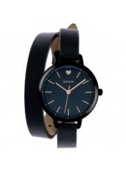 OUI&ME Women's Petite Amourette Black Dial Black Leather Watch ME010050