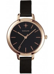 OUI&ME Women's Petite Amourette Black Dial Black Stainless Steel Watch ME010055