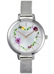 OUI&ME Women's Petite Fleurette Floral Silver Dial Stainless Steel Watch ME010006