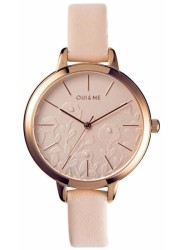 OUI&ME Women's Petite Fleurette Rose Dial Beige Leather Watch ME010129