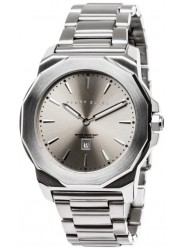 Perry Ellis Unisex Decagon Grey Sunray Dial Stainless Steel Watch 08003-02
