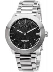 Perry Ellis Unisex Slim Elegant Black Dial Stainless Steel Watch 07001-02