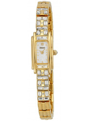 Pulsar Women's PEX536 Crystal Accented Dress Gold-Tone Stainless Steel Watch