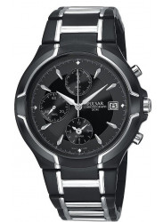 Pulsar Men's Chronograph Black Dial Two Tone Watch PF3547