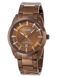Pulsar Men's Brown Dial Brown Ion-Plated Stainless Steel Watch PH9019