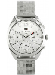 Tommy Hilfiger Women's Mia Silver Dial Stainless Steel Mesh Watch 1781628