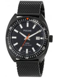 Pulsar Men's Black Dial Black Stainless Steel Mesh Watch PS9231