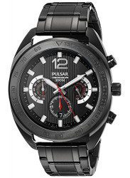 Pulsar Men's Black Dial Chronograph Watch PT3631