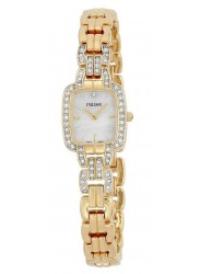 Pulsar Women's Mother of Pearl Dial Gold Stainless Steel Watch PEGA60