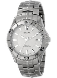 Pulsar Men's Silver Dial Stainless Steel Watch PXHA33