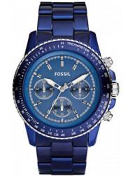 Fossil Men's Stella Blue Dial Aluminium Watch CH2710