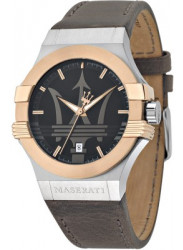 Maserati Men's Potenza Brown Leather Watch R8851108014