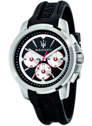 Maserati Men's Sfida Black Dial Black Rubber Watch R8851123001