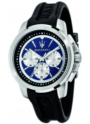 Maserati Men's Sfida Blue Dial Black Rubber Watch R8851123002