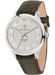 Maserati Men's Gentleman Ivory Dial Green Leather Watch R8851136002