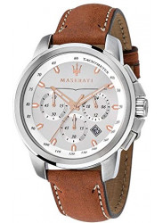 Maserati Men's Successo Chronograph Brown Leather Watch R8871621005