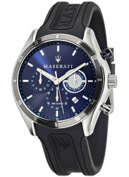 Maserati Men's Sorpasso Chronograph Blue Dial Black Rubber Watch R8871624003
