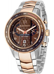 Maserati Men's Brown Dial Two Tone Watch R8873610004