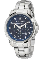 Maserati Men's Successo Chronograph Blue Dial Stainless Steel Watch R8873621002