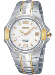 Seiko Men's Coutura White Dial Two Tone Wacth SGED28