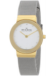 Skagen Women's Freja Silver Dial Swarovski Watch 358SGSCD