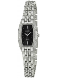 Seiko Women's Solar Black Dial Stainless Steel Watch SUP149