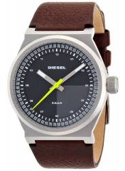 Diesel Men's Grey Dial Brown Leather Watch DZ1562