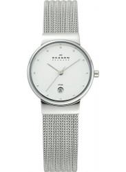 Skagen Women's Freja Chrome Dial Stainless Steel Mesh Watch 355SSS1