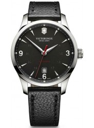 Victorinox Men's Alliance Mechanical Automatic Grey Dial Black Leather Watch 241668