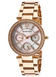 Michael Kors Women's Parker Mother of Pearl Dial Rose Gold Tone Watch MK5616