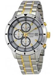 Seiko Men's Chronograph Silver Dial Two-Tone Watch SKS563