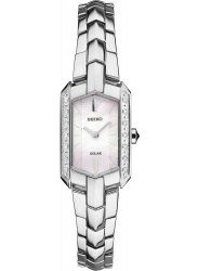 Seiko Women's Tressia Solar Mother of Pearl Dial Watch SUP329
