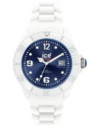 Ice Watch Unisex Ice White Dark Blue Dial Silicone Watch SI.WB.B.S.10
