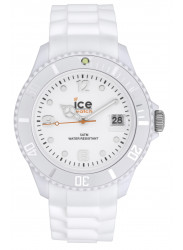 Ice-Watch SI.WE.B.S.09 Men's Sili  White Silicone Quartz Watch with White Dial