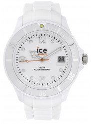 Ice Watch Men's SI.WE.BB.S.11 Sili Collection White Dial White Resin Quartz Watch